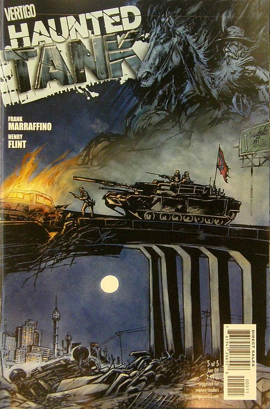 Cover of Haunted Tank (Vol 1) #5. One of 250,000 Vintage American Comics on sale from Krypton!