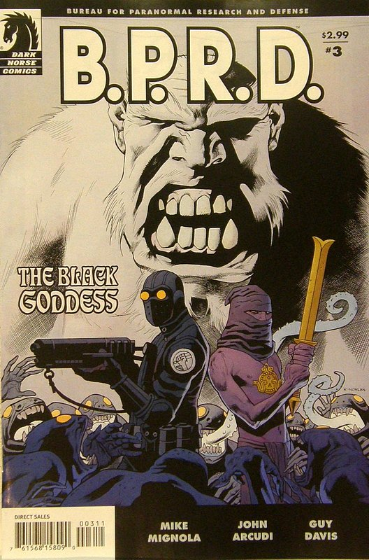 Cover of BPRD: Black Goddess (2009 Ltd) #3. One of 250,000 Vintage American Comics on sale from Krypton!