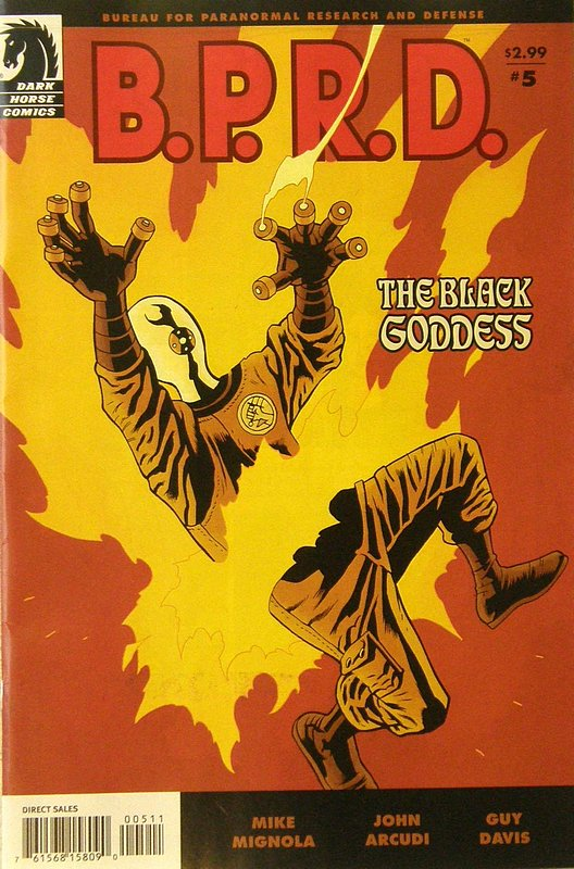 Cover of BPRD: Black Goddess (2009 Ltd) #5. One of 250,000 Vintage American Comics on sale from Krypton!