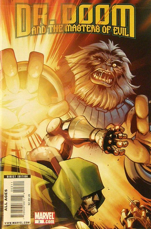 Cover of Dr Doom & The Masters of Evil (2009 Ltd) #3. One of 250,000 Vintage American Comics on sale from Krypton!