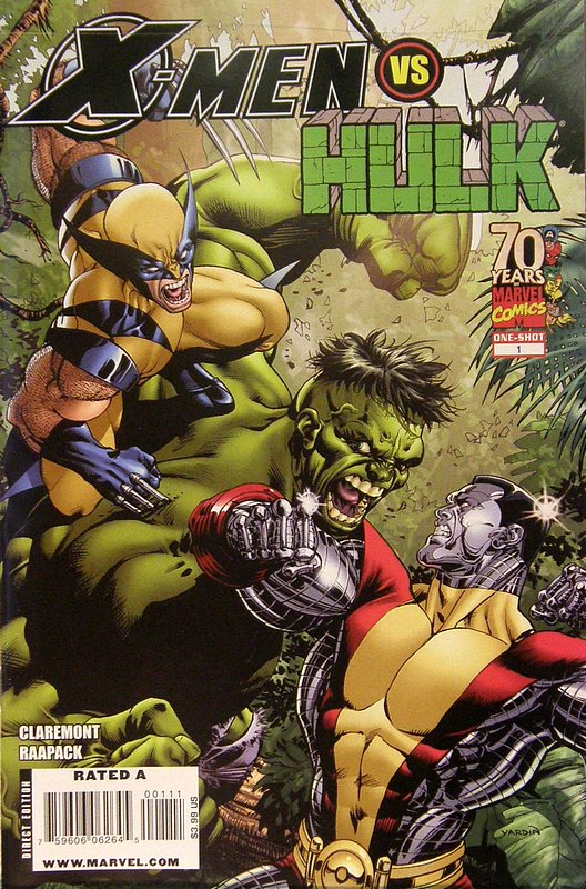 Cover of X-Men vs Hulk (2009 One Shot) #1. One of 250,000 Vintage American Comics on sale from Krypton!