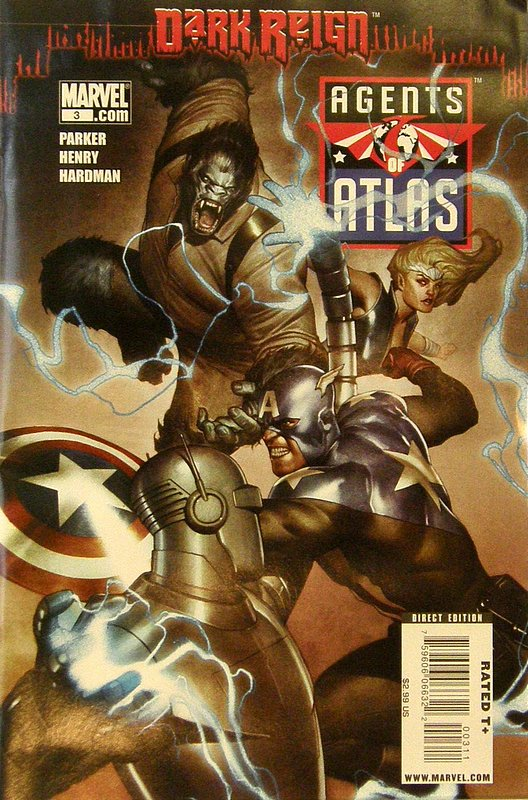 Cover of Agents of Atlas (Vol 1) #3. One of 250,000 Vintage American Comics on sale from Krypton!