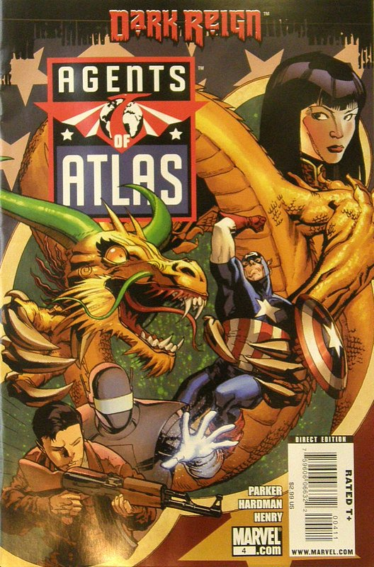 Cover of Agents of Atlas (Vol 1) #4. One of 250,000 Vintage American Comics on sale from Krypton!