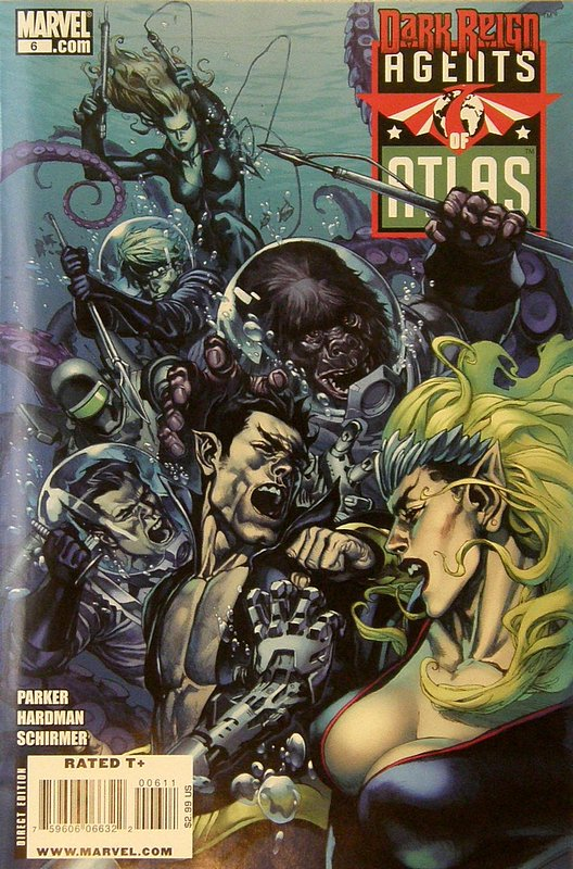 Cover of Agents of Atlas (Vol 1) #6. One of 250,000 Vintage American Comics on sale from Krypton!