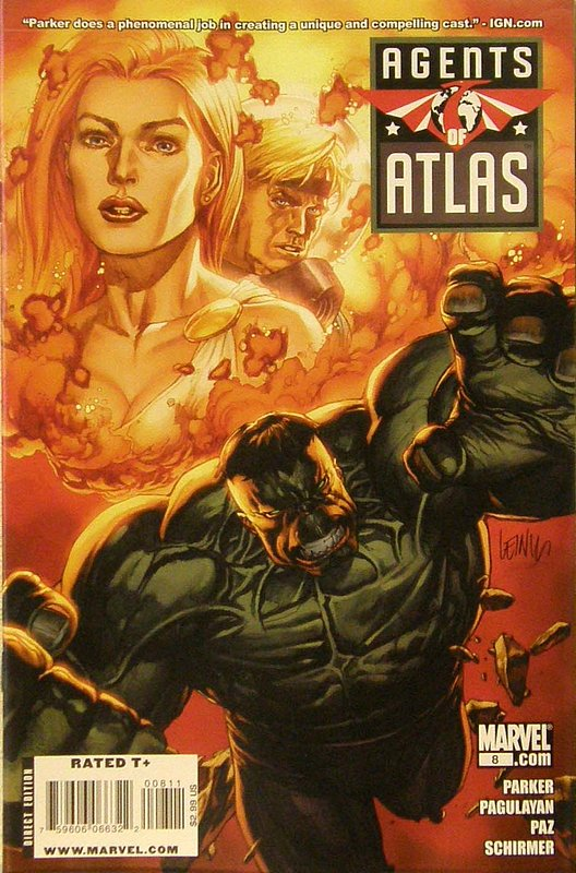 Cover of Agents of Atlas (Vol 1) #8. One of 250,000 Vintage American Comics on sale from Krypton!