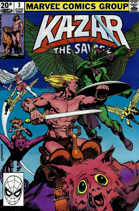 Cover of Ka-Zar (Vol 3), The Savage #3. One of 250,000 Vintage American Comics on sale from Krypton!
