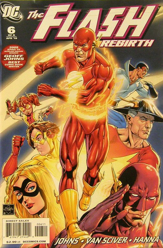 Cover of Flash: Rebirth (2009 Ltd) #6. One of 250,000 Vintage American Comics on sale from Krypton!