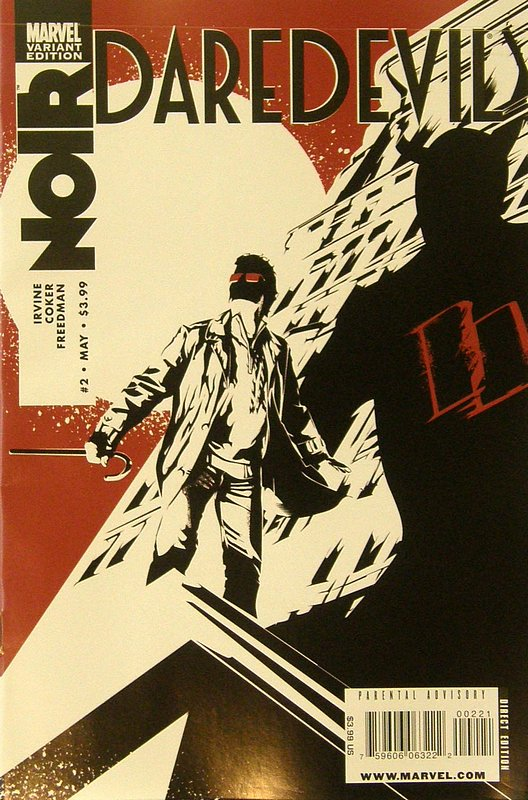 Cover of Daredevil: Noir (2009 Ltd) #2. One of 250,000 Vintage American Comics on sale from Krypton!
