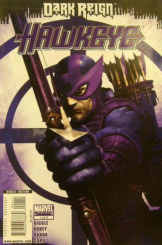 Cover of Dark Reign: Hawkeye (2009 Ltd) #1. One of 250,000 Vintage American Comics on sale from Krypton!