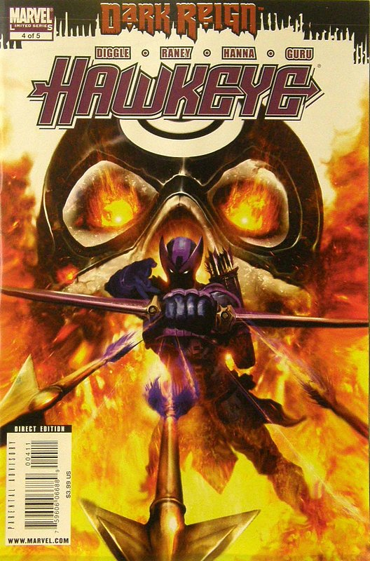 Cover of Dark Reign: Hawkeye (2009 Ltd) #4. One of 250,000 Vintage American Comics on sale from Krypton!