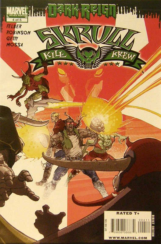Cover of Skrull Kill Krew (2009 Ltd) #4. One of 250,000 Vintage American Comics on sale from Krypton!