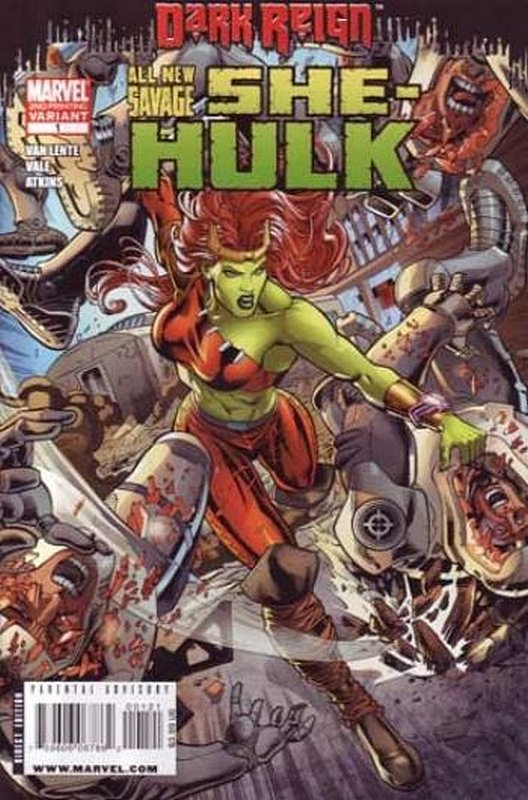 Cover of She-Hulk, The All New Savage (2009 Ltd) #1. One of 250,000 Vintage American Comics on sale from Krypton!
