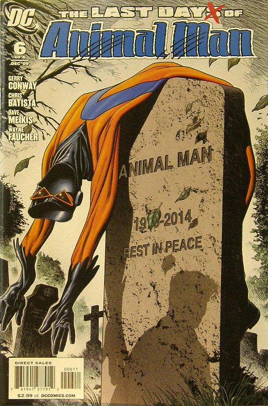 Cover of Last Animal Man (2009 Ltd) #6. One of 250,000 Vintage American Comics on sale from Krypton!