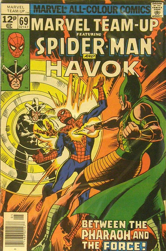 Cover of Marvel Team-up (Vol 1) #69. One of 250,000 Vintage American Comics on sale from Krypton!
