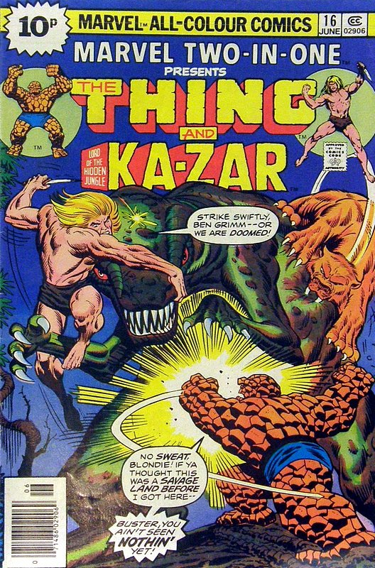 Cover of Marvel Two-in-one (Vol 1) #16. One of 250,000 Vintage American Comics on sale from Krypton!