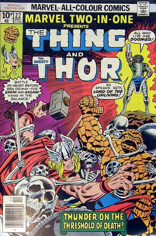 Cover of Marvel Two-in-one (Vol 1) #22. One of 250,000 Vintage American Comics on sale from Krypton!