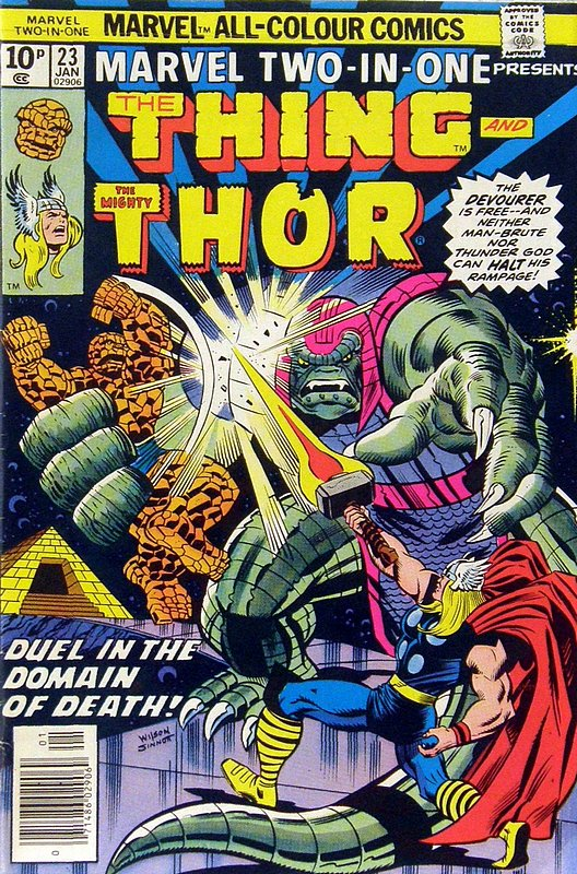 Cover of Marvel Two-in-one (Vol 1) #23. One of 250,000 Vintage American Comics on sale from Krypton!