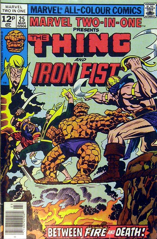 Cover of Marvel Two-in-one (Vol 1) #25. One of 250,000 Vintage American Comics on sale from Krypton!