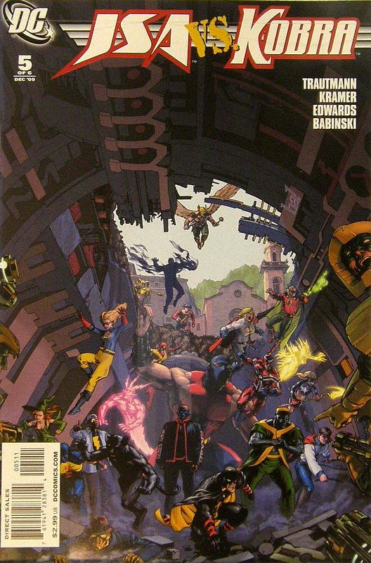 Cover of JSA vs Kobra: Engines of Faith (2009 Ltd) #5. One of 250,000 Vintage American Comics on sale from Krypton!