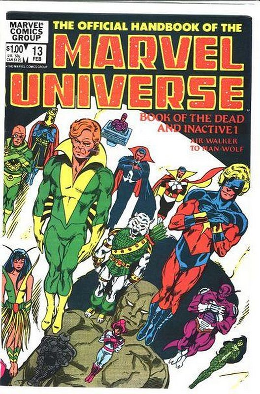Cover of Marvel Universe (Vol 1) Official Handbook of the #13. One of 250,000 Vintage American Comics on sale from Krypton!