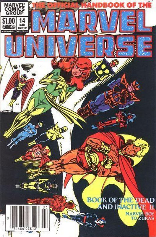 Cover of Marvel Universe (Vol 1) Official Handbook of the #14. One of 250,000 Vintage American Comics on sale from Krypton!