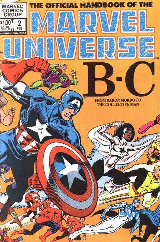 Cover of Marvel Universe (Vol 1) Official Handbook of the #2. One of 250,000 Vintage American Comics on sale from Krypton!