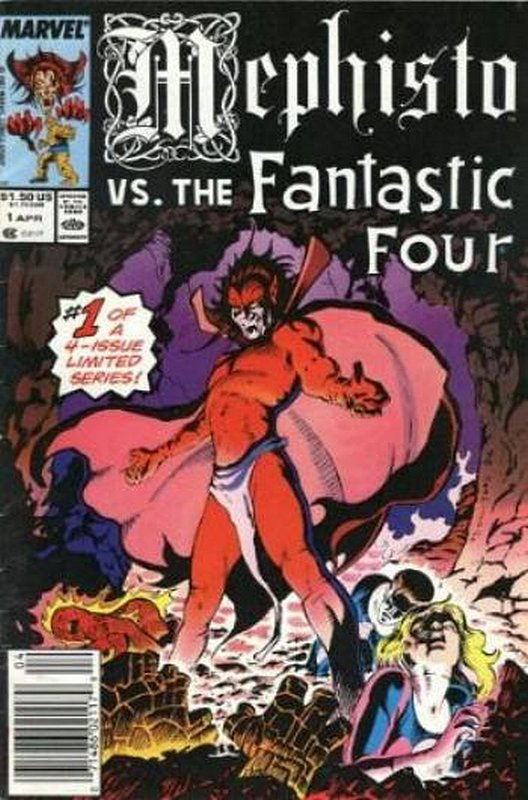 Cover of Mephisto vs Four Heroes (1987 Ltd) #1. One of 250,000 Vintage American Comics on sale from Krypton!