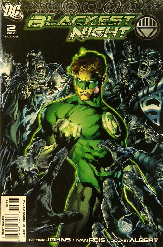 Cover of Blackest Night (2009 Ltd) #2. One of 250,000 Vintage American Comics on sale from Krypton!
