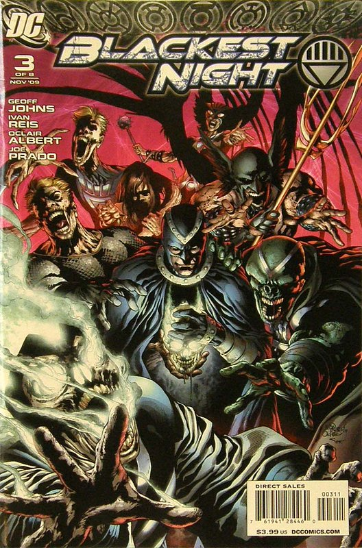 Cover of Blackest Night (2009 Ltd) #3. One of 250,000 Vintage American Comics on sale from Krypton!