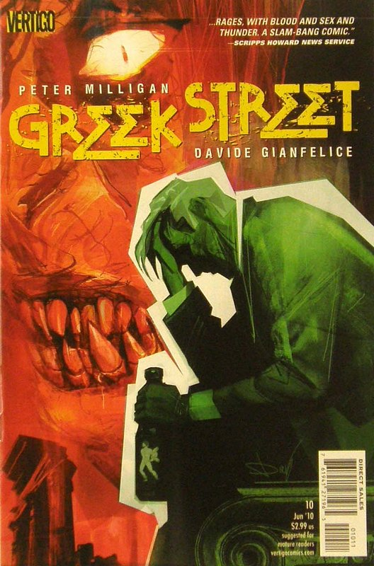 Cover of Greek Street (Vol 1) #10. One of 250,000 Vintage American Comics on sale from Krypton!