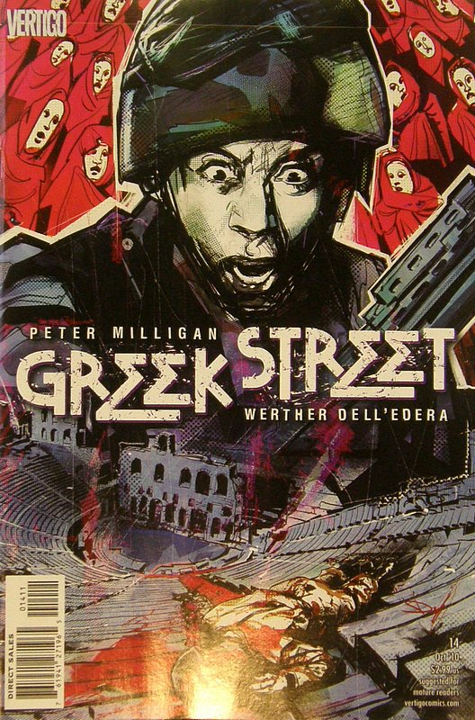 Cover of Greek Street (Vol 1) #14. One of 250,000 Vintage American Comics on sale from Krypton!