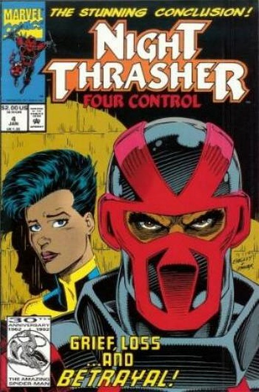 Cover of Night Thrasher Four Control #4. One of 250,000 Vintage American Comics on sale from Krypton!