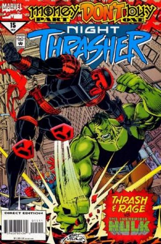 Cover of Night Thrasher (Vol 1) #15. One of 250,000 Vintage American Comics on sale from Krypton!