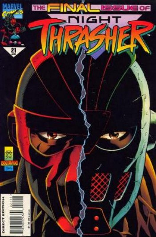 Cover of Night Thrasher (Vol 1) #21. One of 250,000 Vintage American Comics on sale from Krypton!