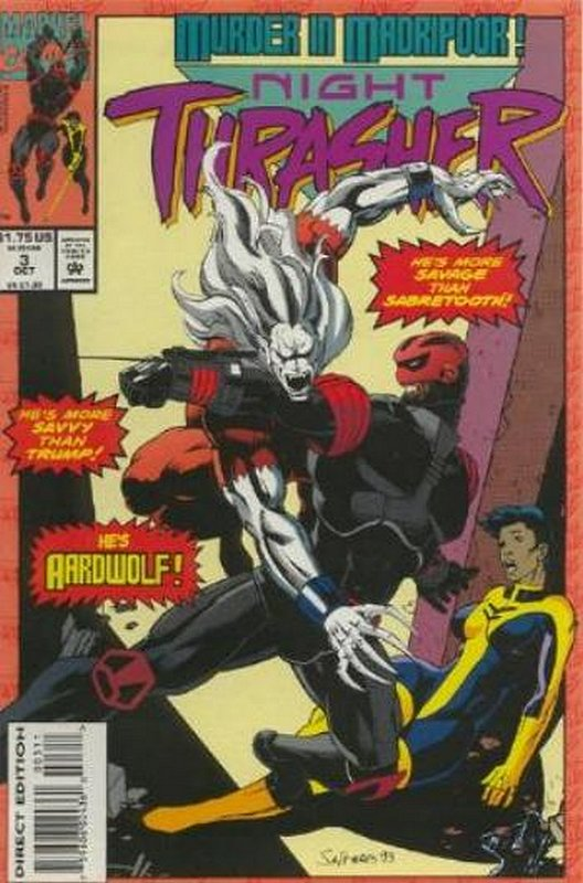 Cover of Night Thrasher (Vol 1) #3. One of 250,000 Vintage American Comics on sale from Krypton!