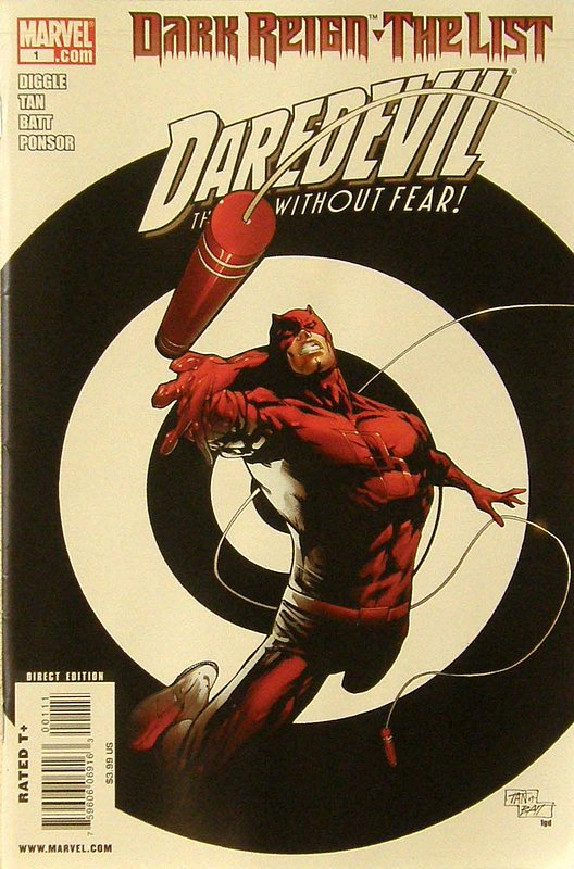 Cover of Dark Reign: List - Daredevil (2009 One Shot) #1. One of 250,000 Vintage American Comics on sale from Krypton!