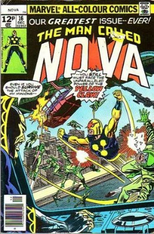 Cover of Nova (Vol 1) #16. One of 250,000 Vintage American Comics on sale from Krypton!
