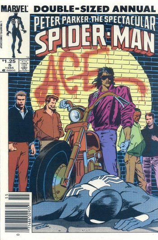 Cover of Spectacular Spider-Man Annual #5. One of 250,000 Vintage American Comics on sale from Krypton!
