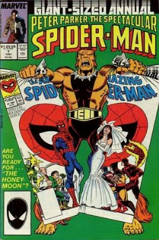 Cover of Spectacular Spider-Man Annual #7. One of 250,000 Vintage American Comics on sale from Krypton!