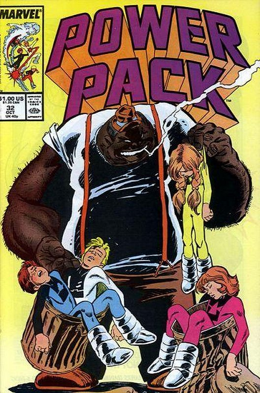 Cover of Power Pack (Vol 1) #32. One of 250,000 Vintage American Comics on sale from Krypton!