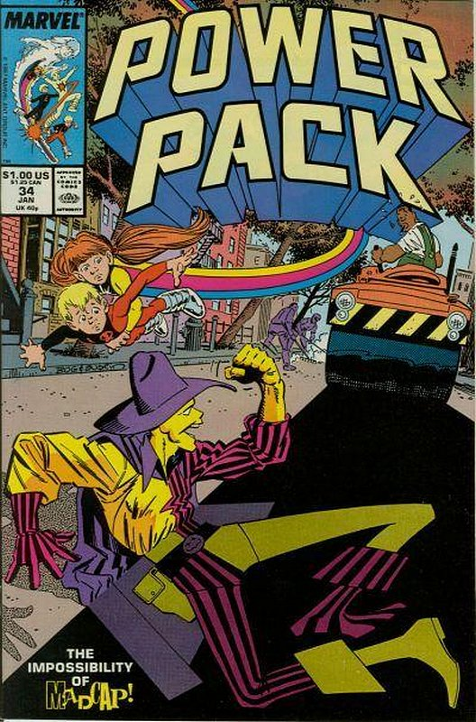 Cover of Power Pack (Vol 1) #34. One of 250,000 Vintage American Comics on sale from Krypton!