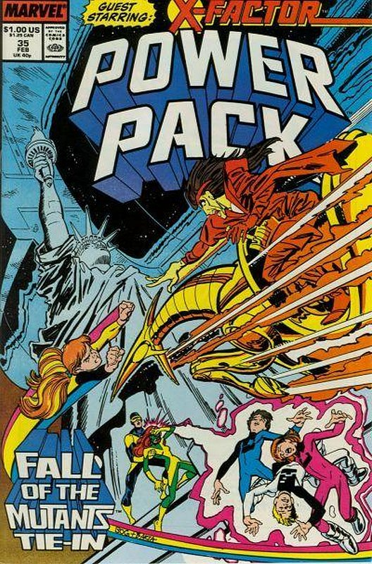 Cover of Power Pack (Vol 1) #35. One of 250,000 Vintage American Comics on sale from Krypton!