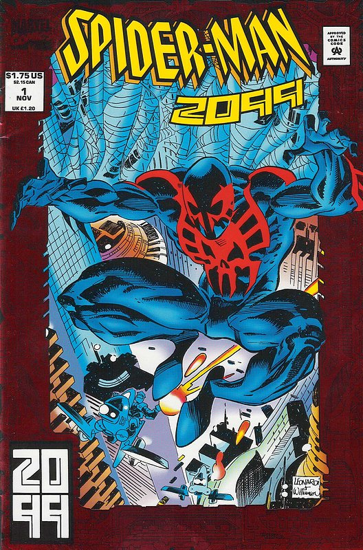 Cover of Spider-Man 2099 (Vol 1) #1. One of 250,000 Vintage American Comics on sale from Krypton!