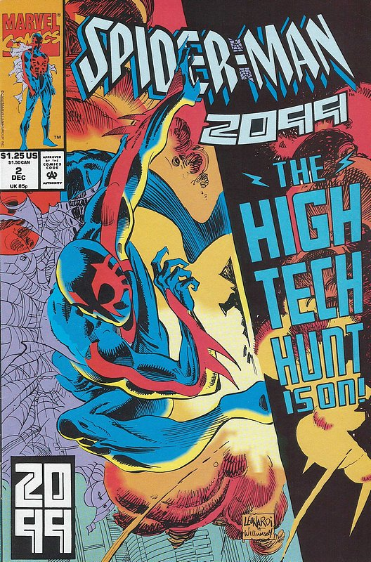 Cover of Spider-Man 2099 (Vol 1) #2. One of 250,000 Vintage American Comics on sale from Krypton!