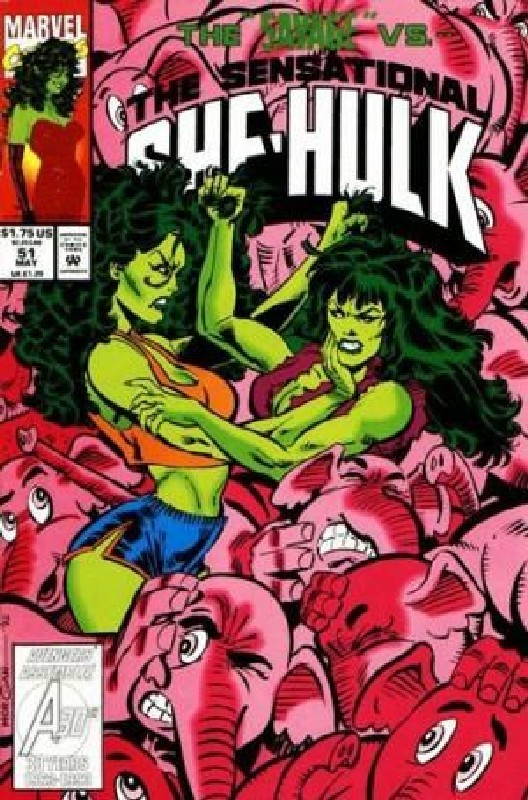 Cover of She-Hulk (Vol 2) The Sensational #51. One of 250,000 Vintage American Comics on sale from Krypton!
