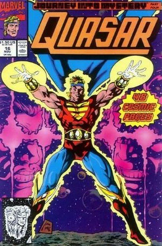 Cover of Quasar (Vol 1) #16. One of 250,000 Vintage American Comics on sale from Krypton!