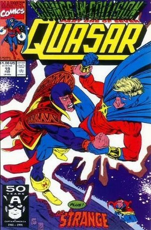 Cover of Quasar (Vol 1) #19. One of 250,000 Vintage American Comics on sale from Krypton!