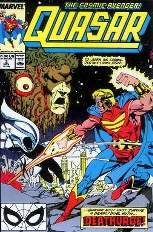 Cover of Quasar (Vol 1) #2. One of 250,000 Vintage American Comics on sale from Krypton!