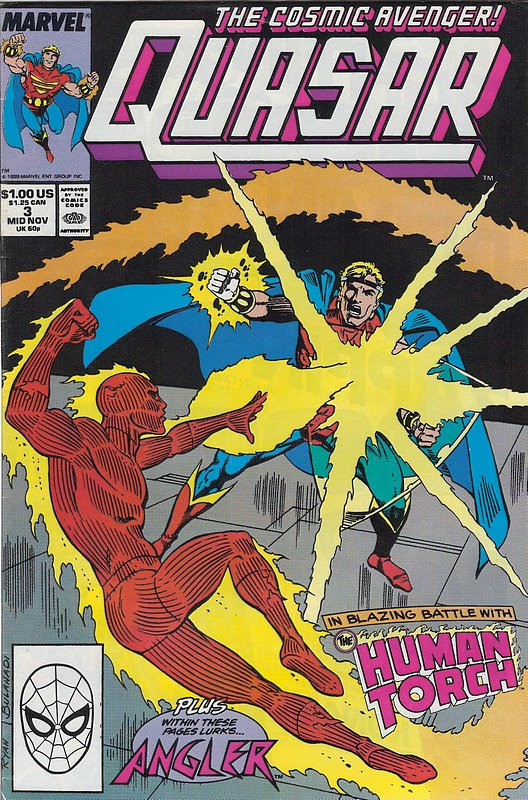 Cover of Quasar (Vol 1) #3. One of 250,000 Vintage American Comics on sale from Krypton!