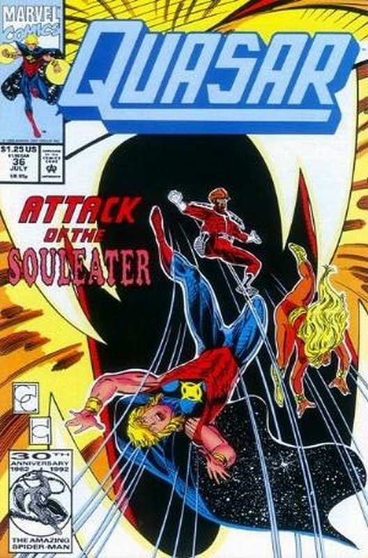 Cover of Quasar (Vol 1) #36. One of 250,000 Vintage American Comics on sale from Krypton!